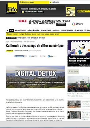 Franceinfo.fr : Californie, des camps de détox numérique