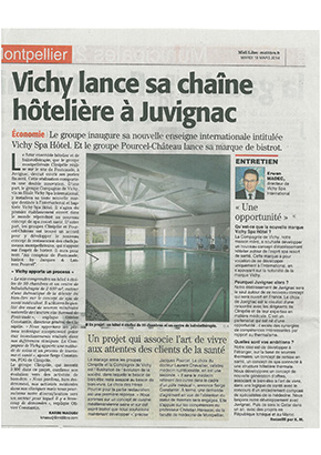 Le développement de Vichy Spa Hôtel commence à Juvignac.