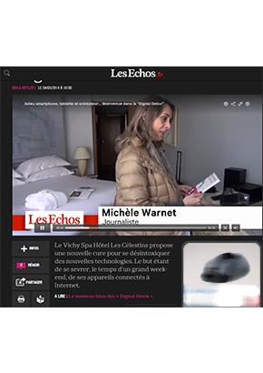 La journaliste des Echos au Vichy Spa Hôtel Les Célestins !