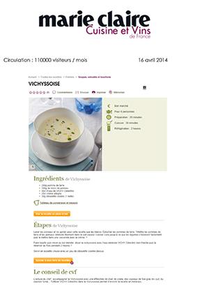 Marie Claire - Cuisine&Vins de France - avril 2014
