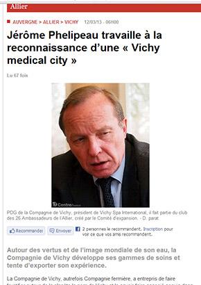 Interview de Monsieur Jérôme Phelipeau, PDG de la Compagnie de Vichy