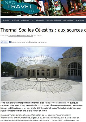 infotravel.fr met à l'honneur les cures thermales haut de gamme des Célestins.