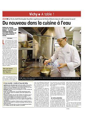 Faites-vous plaisir avec la cuisine à l'eau Vichy Célestins, bonne pour la santé