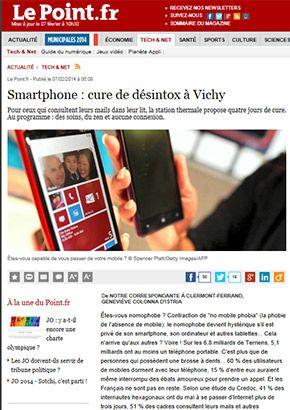 LePoint.fr : Smartphone : cure de désintox à Vichy