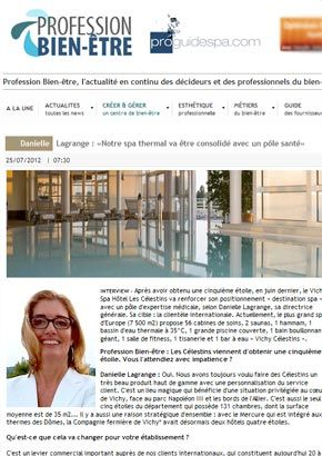 www.prodiguespa.com : Le Spa thermal Vichy va être consolidé par un pôle santé
