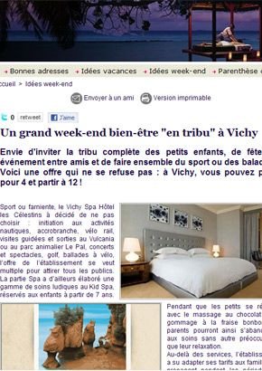 www.vacancespratiques.com : idée de vacances à Vichy, offre spéciale !