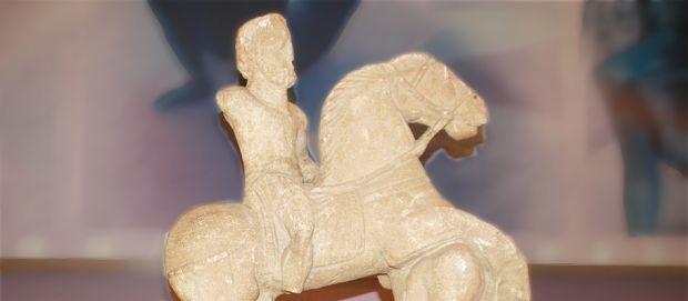 Statue dite du « cavalier à l'anguipède »