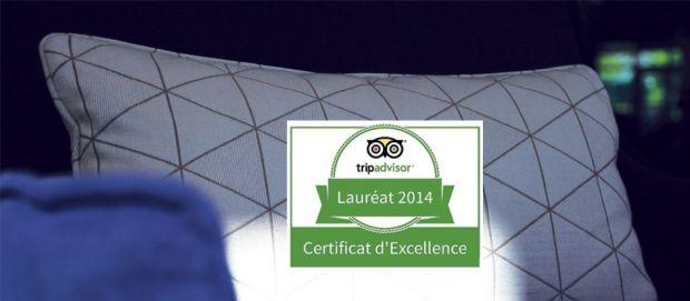 Certificat d'Excellence TripAdvisor 2014 : Vichy Spa Hôtel Les Célestins !