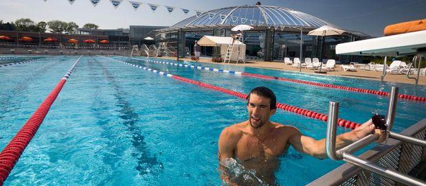 Michael Phelps en 2012 au Vichy Spa Hôtel Les Célestins !