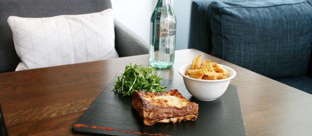 Croque Bonnamour servi au bar le Blue Note à Vichy - Pause déjeuner sur le pouce