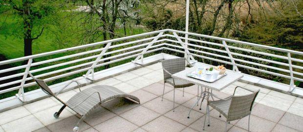 Terrasse d'une chambre Deluxe - Vichy Spa Hôtel Les Célestins 5 étoiles