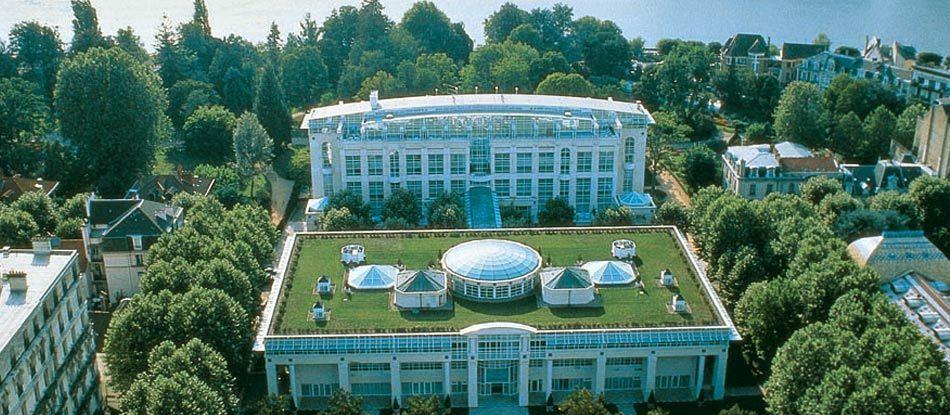 Vue aérienne du Vichy Spa Hôtel Les Célestins