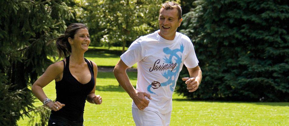 Cardio-training dans le parc Napoléon III à Vichy (Auvergne)