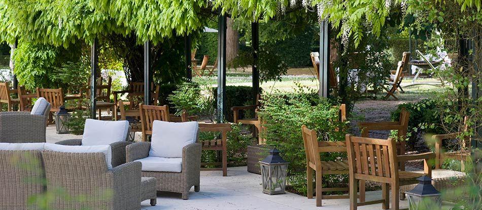 Terrasses des restaurants de l'Hôtel Les Célestins à Vichy (Auvergne)