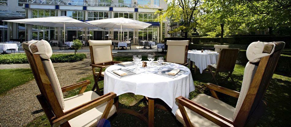 Terrasse du restaurant gastronomique le N3, Vichy Auvergne