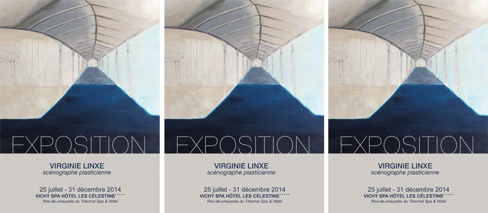 Exposition peintures Vichy Spa Hôtel Les Célestins, artiste : Virginie Linxe
