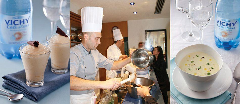 S. Bonnamour et C. Vauthier conseillent de cuisiner à l'eau Vichy Célestins.