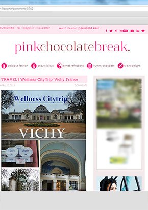 pinkchocolatebreak.com in France, in Vichy