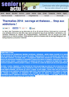 senioractu.com : Stop aux addictions, Digital Detox à Vichy