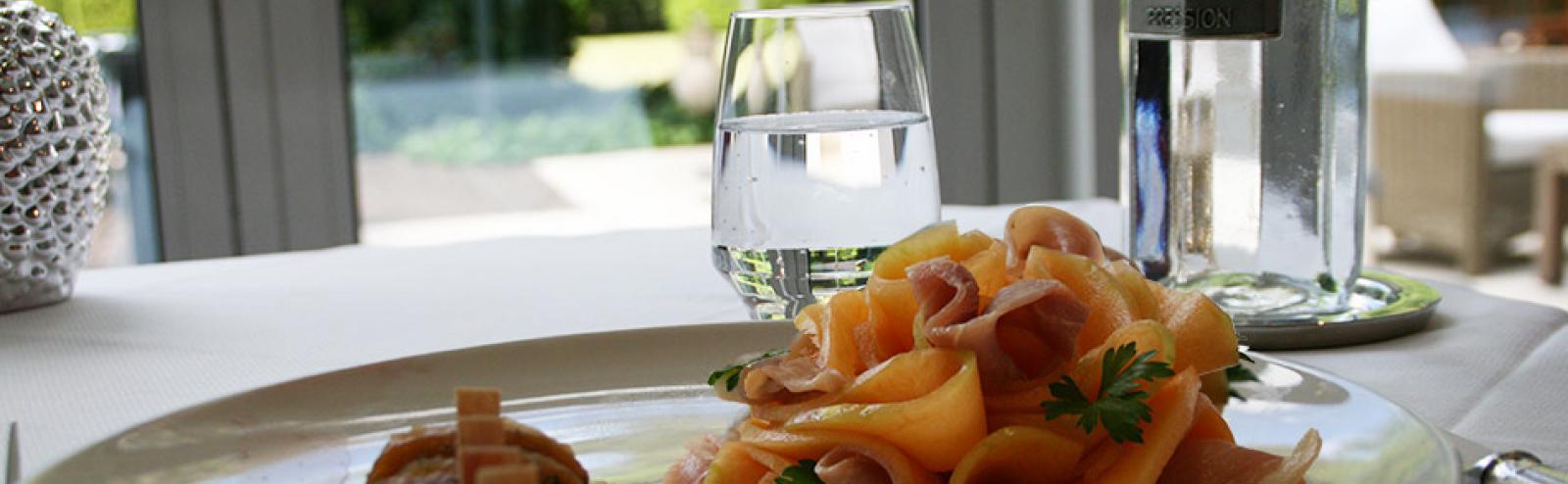 Recette chef, recette melon au porto et jambon cru