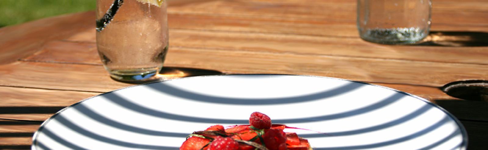 Recette compotée de rhubarbe aux fraises, recette chef cuisinier