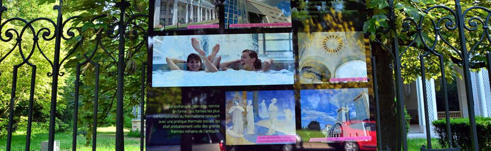 Exposition source des Célestins - patrimoine thermal