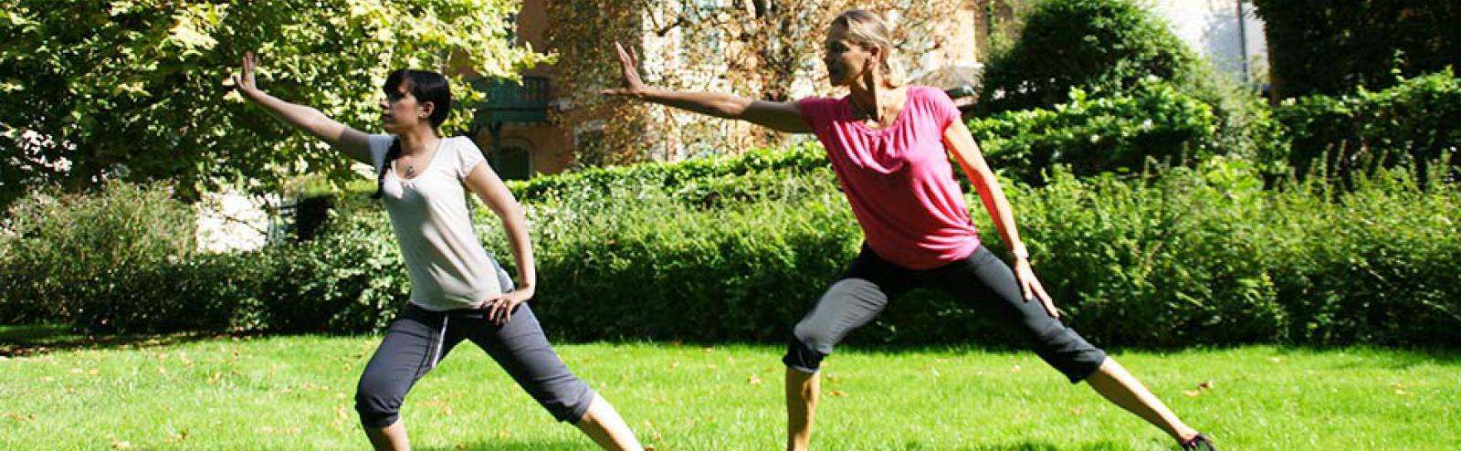 Séance individuelle de sport dans les parcs de Vichy