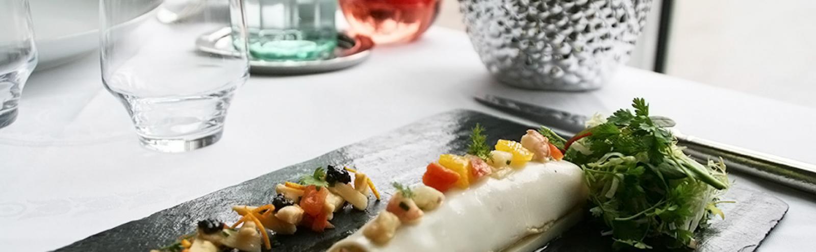 Recette du cannelloni d'asperges blanches aux langoustines et agrumes