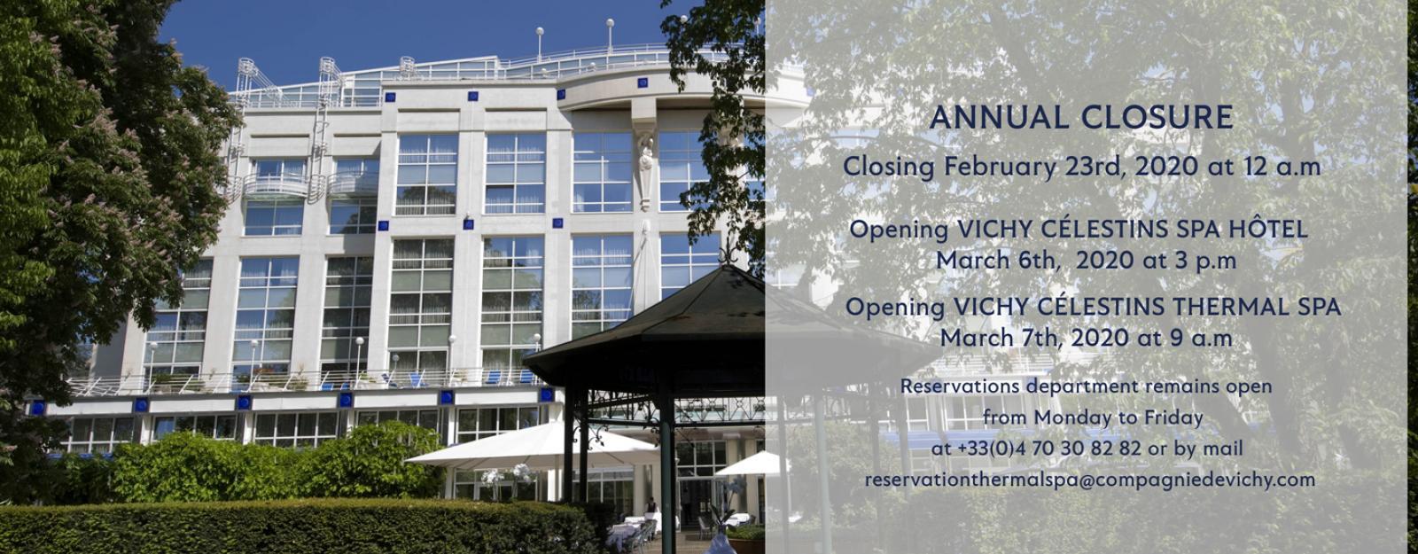 Annual closure 2020